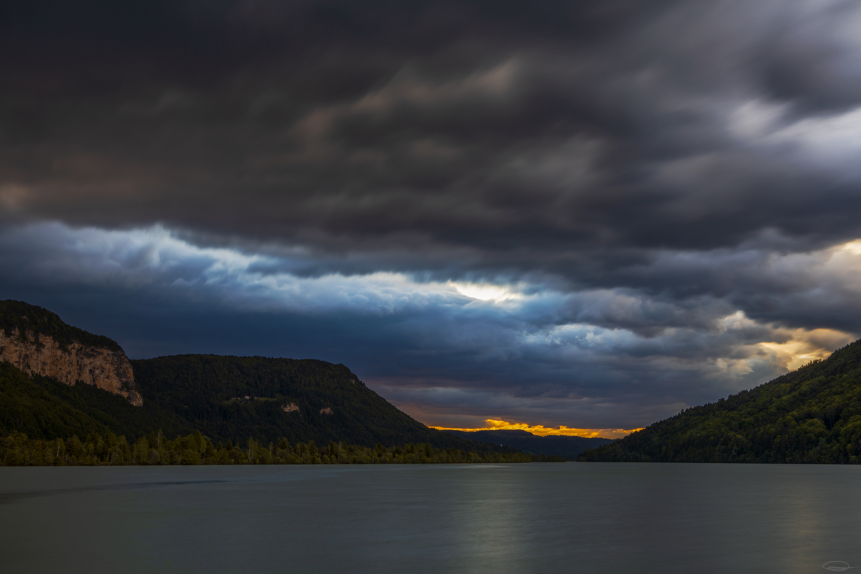 Cloudy Sunrise at the Reservoir